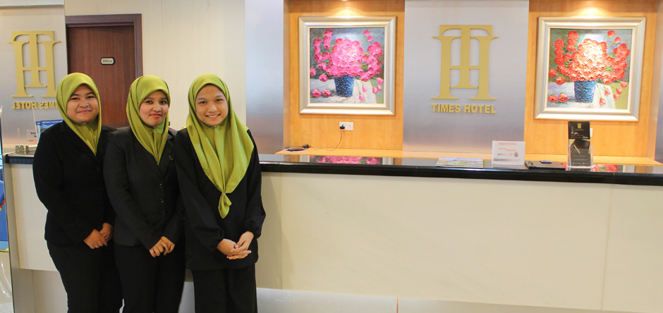 Times Hotel personnel are there all the time to serve you